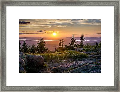 Cadillac Mountain Sunset  Framed Print