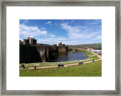 Caerphilly Castle Framed Print by Andrew Read