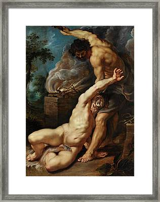 Cain Slaying Abel Framed Print