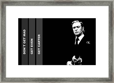 Caine As Carter Framed Print by Martin James