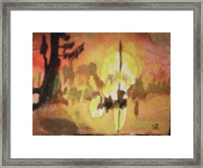 Cajun Sunrise Framed Print by Warren Thompson
