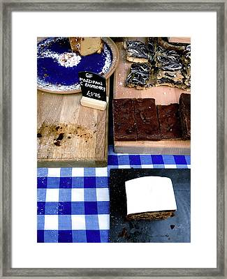 Cake Stall At A Market Framed Print by Tom Gowanlock