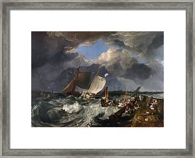 Calais Pier Framed Print by Joseph Mallord William Turner
