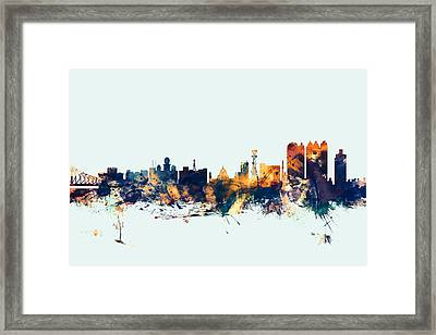 Calcutta Kolkata India Skyline Framed Print