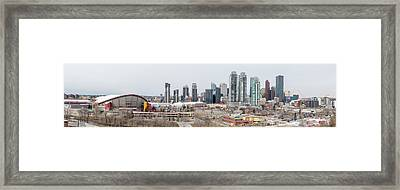Framed Print featuring the photograph Calgary, Alberta by Josef Pittner