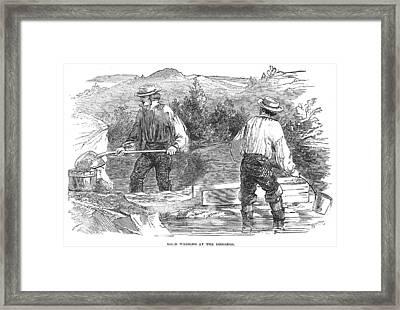 California Gold Rush, 1849 Framed Print by Granger