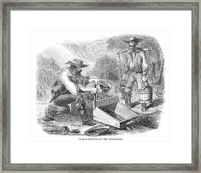 California Gold Rush, 1860 Framed Print by Granger