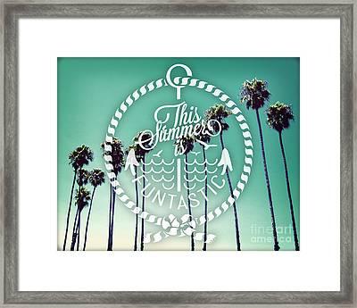 California Palms I Framed Print by Chris Andruskiewicz