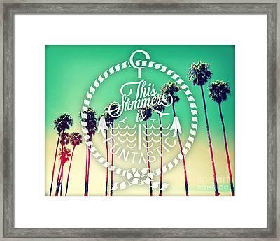 California Palms II Framed Print by Chris Andruskiewicz