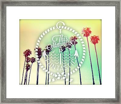 California Palms IIi Framed Print by Chris Andruskiewicz