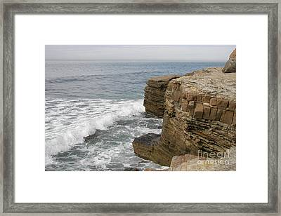 Framed Print featuring the photograph California Seascape by Carol  Bradley