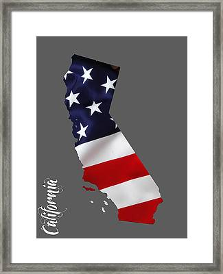 California State Map Collection Framed Print