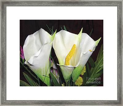 Framed Print featuring the photograph Calla Lilies by Merton Allen
