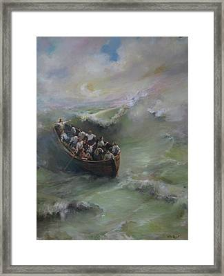 Calming The Storm Framed Print