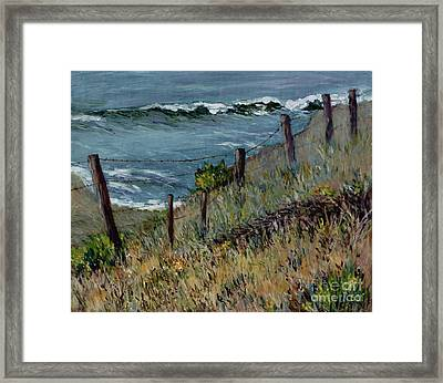 Cambria Coast Framed Print