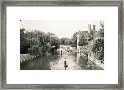 Cambridge River Punting Framed Print by Eden Baed