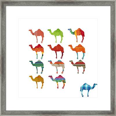 Camels Framed Print by Art Spectrum