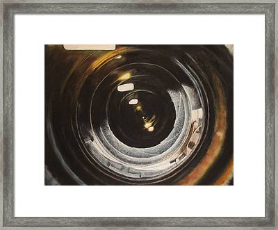 Camera Lens Framed Print by Lindsey Cockrum