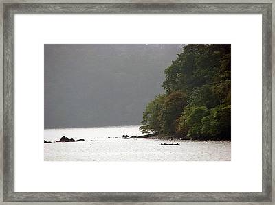 Cameroon Fisherman Africa Framed Print