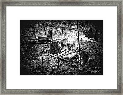 Camp Fire - Stove Framed Print by Paul W Faust - Impressions of Light