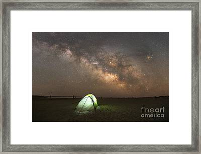 Camping Under The Stars  Framed Print by Michael Ver Sprill