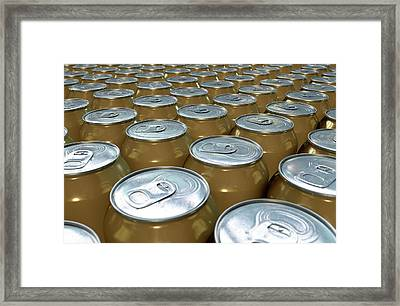 Can Production Line Framed Print by Allan Swart
