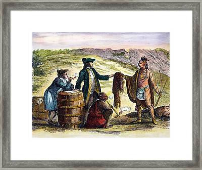 Canada: Fur Traders, 1777 Framed Print