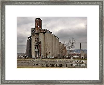 Canada Malting Plant Framed Print by Reb Frost