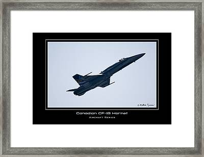 Canadian Cf-18 Hornet Framed Print by Mathias Rousseau