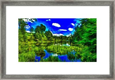 Canadian Lake Framed Print