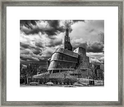 Canadian Museum For Human Rights Framed Print by Tom Gort