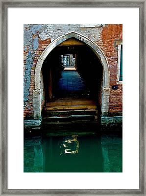 Canal Entrance Framed Print