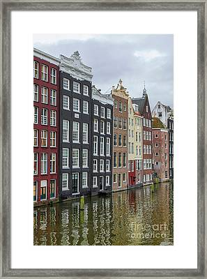 Canal Houses In Amsterdam Framed Print by Patricia Hofmeester