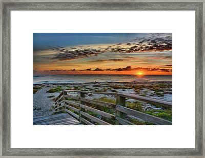 Canaveral Sunrise Framed Print