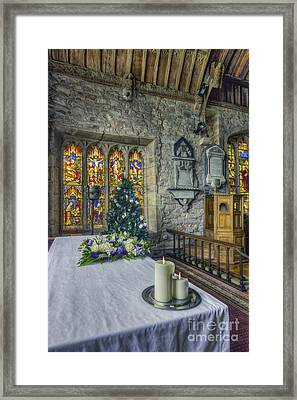 Candles At Christmas Framed Print by Ian Mitchell
