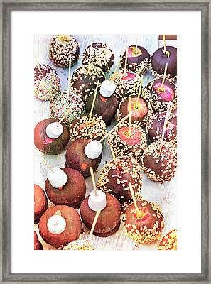 Candy Apples Framed Print