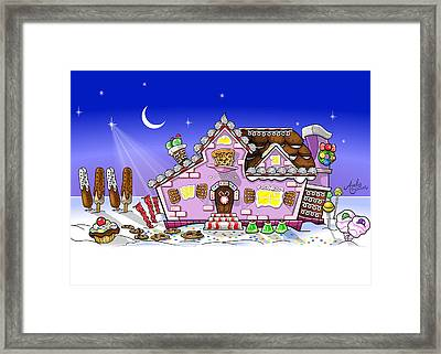 Candy House Framed Print by Andy Bauer