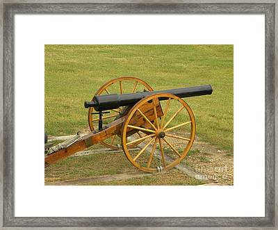 Cannon Framed Print by Frederick Holiday