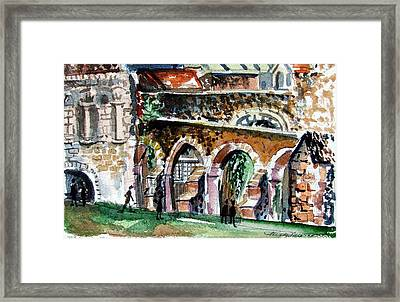 Canterbury England Cloisters Framed Print by Mindy Newman