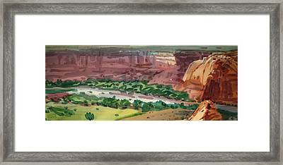 Canyon Panorama Framed Print by Donald Maier