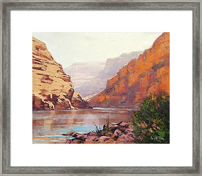 Canyon River  Framed Print by Graham Gercken