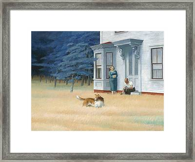 Cape Cod Evening Framed Print by Edward Hopper