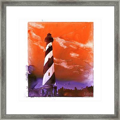 Framed Print featuring the painting Cape Hatteras Lighthouse by Ryan Fox