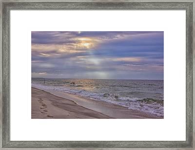 Cape May Beach Framed Print by Tom Singleton
