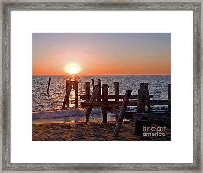 Cape May Sunset Framed Print by Robert Pilkington