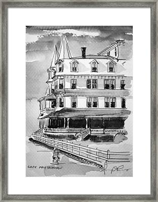 Cape May Victorian B-w Framed Print by George Lucas