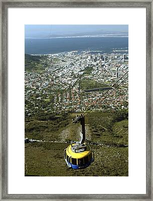 Capetown Cablecar Framed Print by Charles  Ridgway
