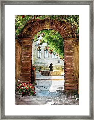 Capistrano Gate Framed Print