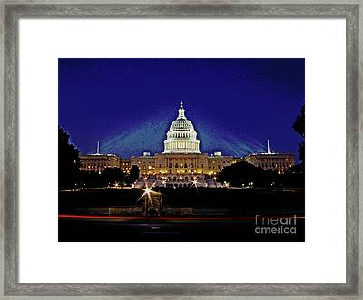 Capitol Brights Framed Print