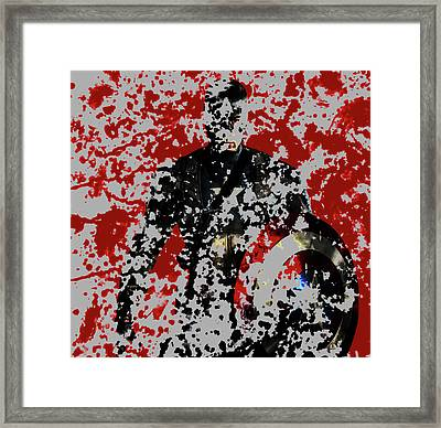 Captain America 4a Framed Print by Brian Reaves